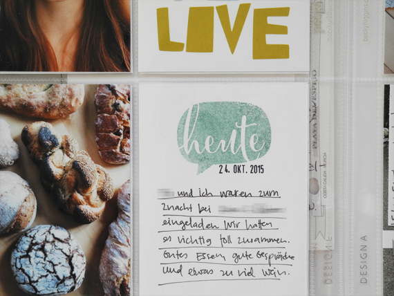 Create Share Love | ProjectLife 2015 October 9