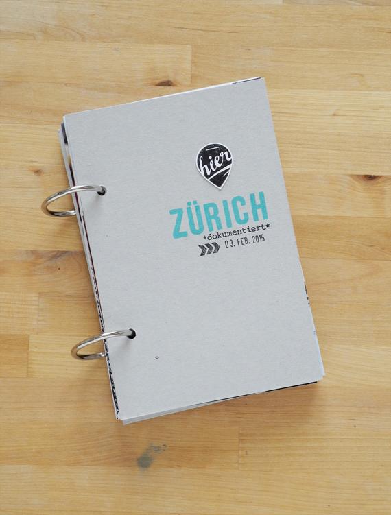 Create Share Love | PAPIERPROJEKT Moment-Stempel Minialbum Zurich 1