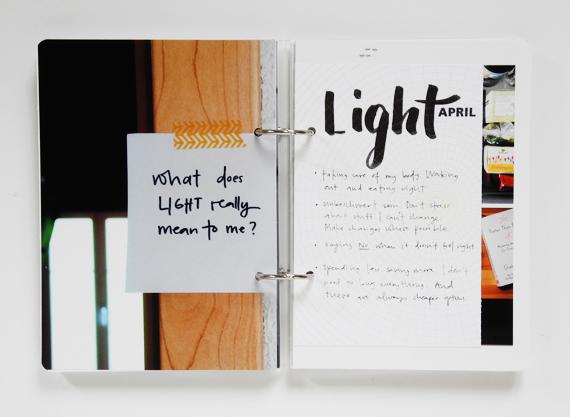 Create Share Love   One Little Word 2016 LIGHT April 1