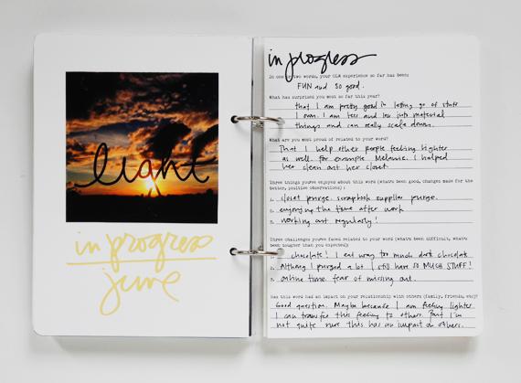 Create Share Love   One Little Word 2016 LIGHT June 1