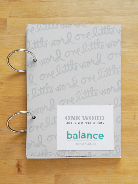 Create Share Love | One Little Word 2017 Balance January_1