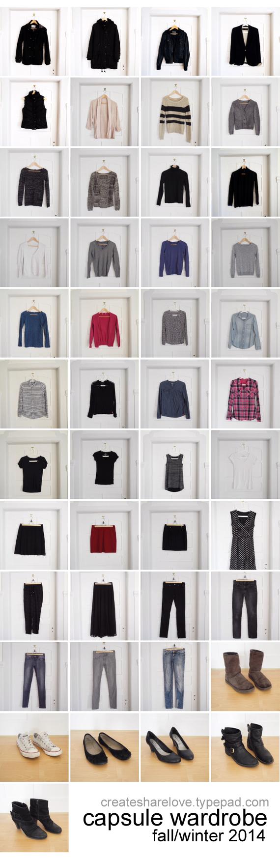 Create Share Love | Capsule Wardrobe Fall-Winter 2014