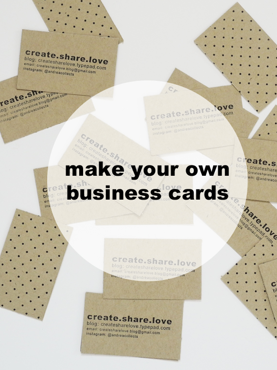 Create Share Love | Business Cards 1