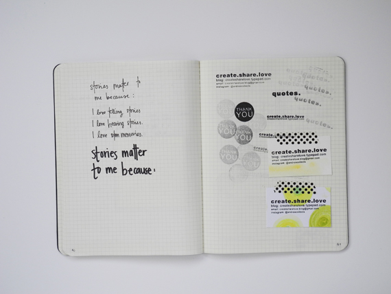 Create Share Love | Projects Notebook 9