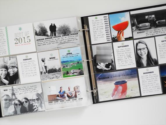 Create Share Love | Papierprojekt Moment Stempel Best Of... Project Life Spread 1