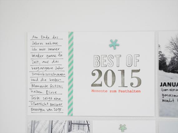 Create Share Love | Papierprojekt Moment Stempel Best Of... Project Life Spread 5