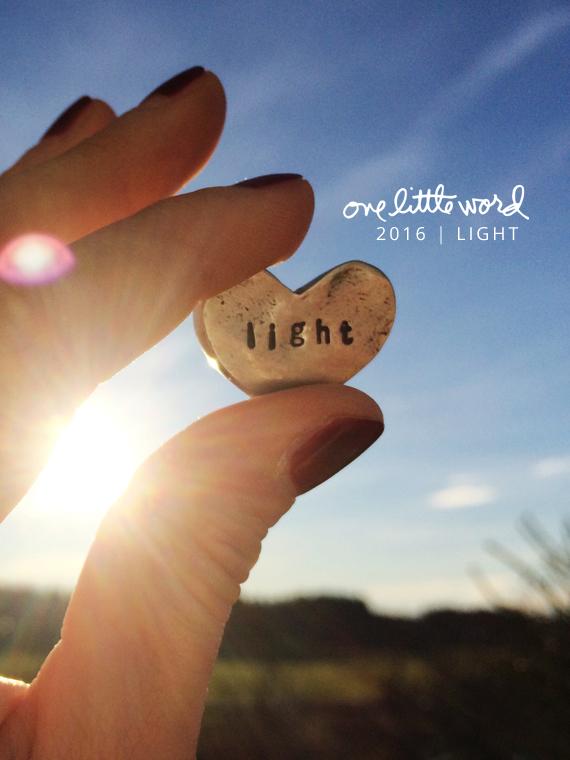 Create Share Love | One Little Word 2016 LIGHT