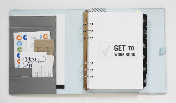 Create Share Love   GET TO WORK BOOK - How I use the unbound A5 version_1