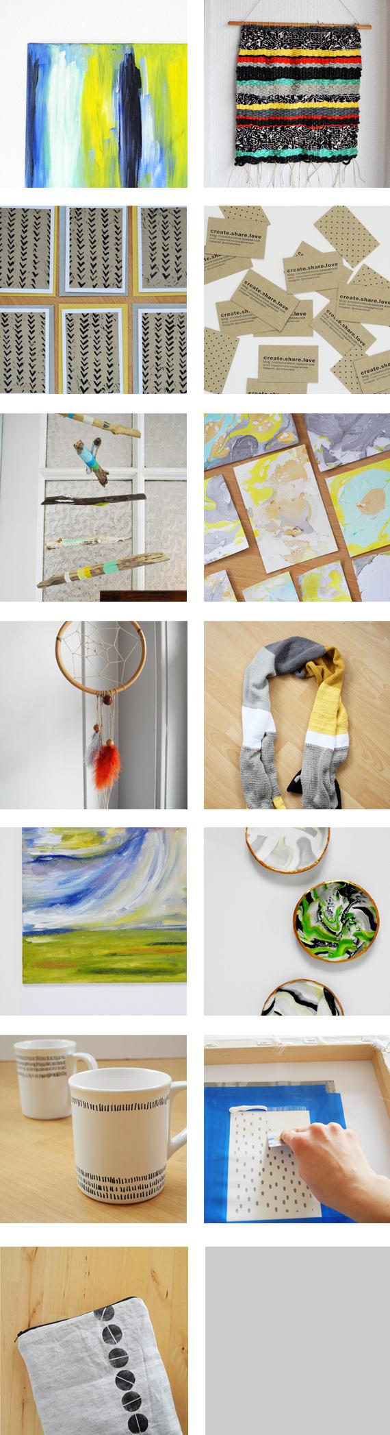 Create Share Love | 27 handmade items recap