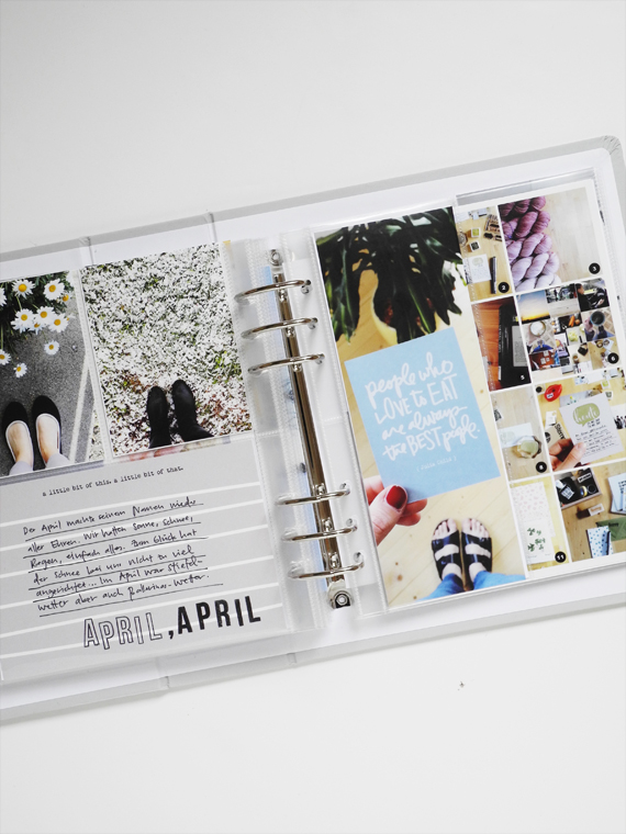 Create Share Love | Personal Project Life® Album 2017_April + May